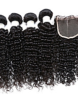 malaysian virgin hair 4 bundles with closure malaysian curly hair with closure kinky curly human hair with closure