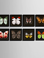 E-HOME® Framed Canvas Art, Woman And Butterfly Wings Series Framed Canvas Print One Pcs