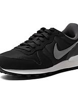 Zapatos Running Cuero / Ante / Tul Negro Hombre