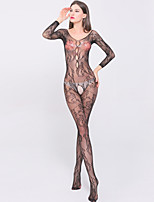 Women's Fashion Jacquard Long Sleeve Ultra Sexy / Teddy Nightwear,Nylon