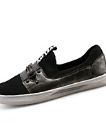 Men's Shoes Tulle Office & Career / Casual / Party & Evening Fashion Sneakers Office & Career / Casual / Party & Evening Flat HeelSilver