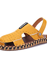 Zapatos de Hombre-Sandalias-Oficina y Trabajo / Casual-Cuero-Negro / Marrón / Amarillo