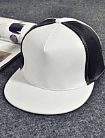 Unisex Leather Casual Stitching Color Hip-hop Baseball Outdoor Fashion Hat