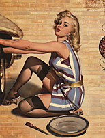 JAMMORY Art Deco Wallpaper Retro Wall Covering,Canvas Large Mural  Painting Poster