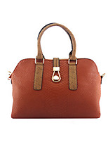 Women-Formal / Event/Party-Cowhide-Tote-Blue / Green / Yellow / Brown / Red / Gray / Black