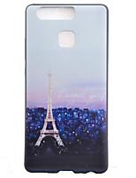 Pour Coque Huawei P9 P9 Lite Motif Coque Coque Arrière Coque Tour Eiffel Flexible PUT pour Huawei Huawei P9 Huawei P9 Lite