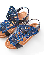 Girls' Shoes Dress / Casual Comfort Leatherette Sandals Blue / Silver / Gold