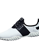 Men's Shoes Casual Fabric Fashion Sneakers Black / White / Black and White