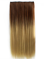 26 Inch Clip in Synthetic Colorful Straight Hair Extensions with 5 Clips
