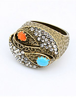 Vintage Style Gorgeous Ring With Multi-Shaped Cubic Zirconia Diamond White Gold Plated Jewelry Ring