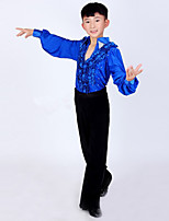Latin Dance Outfits Children's Performance Spandex / Polyester Fashion 2 Pieces Boy's Dance Costumes