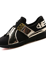 Men's Spring / Fall Styles / Round Toe PU Office & Career / Casual / Party & Evening Flat Heel Silver / Gold Sneaker