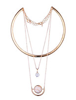 LGSP Women's Alloy Necklace Daily Cubic Zirconia-61161047