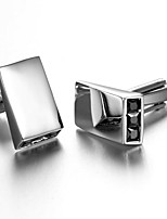 Men's Fashion Simple Silver Alloy French Shirt Cufflinks (1-Pair)