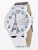 Women's Digital Print Leather Fashion Belt Geneva Quartz Watch