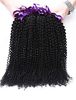 3 bundels brazilian maagd haar kinky krullende Braziliaanse menselijk haar weave 7a brazilian rosa koningin haarproducten