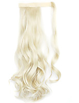 Wig Golden 45CM Synthetic High Temperature Wire Curly Horsetail Color 613