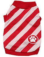 Gatti / Cani T-shirt Rosso / Blu Estate / Primavera/Autunno Floral / botanico Di tendenza-Pething®, Dog Clothes / Dog Clothing