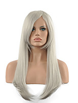 70 cm Cosplay Wigs Cheap Party Full Synthetic Wigs Beauty Hair Product Sliver Color Wig.