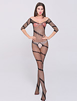 Women's Western Style Mesh Ultra Sexy / Teddy Nightwear,Spandex