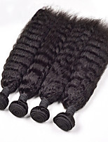 4Pack/Lot Malaysia Virgin Hair Kinky Straight Weave Human Hair Straight Yaki 12-26inch Cheap Kinky Straight Hair