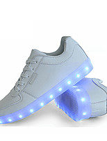 Черный / Белый-Мужская обувь-Для прогулок / На каждый день / Для занятий спортом-Синтетика-Кроссовки