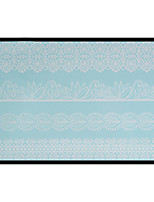 Lovely HENNA Lace Big White Face Sticker 01