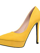 Women's Summer Heels Fleece Casual Stiletto Heel Black / Yellow / Green / Pink / Red