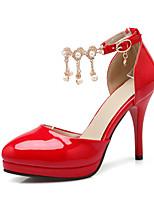 נעלי נשים-בלרינה\עקבים-עור פטנט-עקבים-שחור / אדום / Almond-חתונה / שמלה / קז'ואל / מסיבה וערב-עקב סטילטו