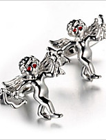 Men's Fashion Cupid Style Silver Alloy French Shirt Cufflinks (1-Pair)
