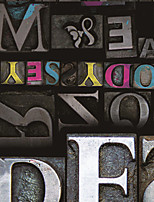 JAMMORY Art Deco Wallpaper Retro Wall Covering,Canvas Large Mural  Retro Colored Letters