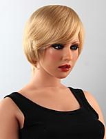 peluca corta el pelo humano peluca de pelo con estilo 15 colores a elegir