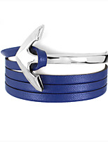 MOGE New Fashion Alloy / Leather Bracelet / Cool / Party / Leisure / Sports