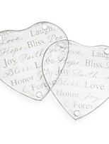 Hope, Bliss, Peace, Love Forever Glass Coasters Wedding Party Decoration (1pcs)