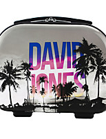 DAVIDJONES Women's Fashion Casual Multifunctional Artwork Cosmetic Makeup Bag Storage Tote Organizer-Palmier