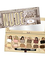 New Makeup TB Nude Tude Palette with Brush 12 Colors Glitter Eyeshadow