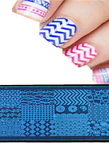 1pcs 12*6CM Nail Art Stamping Plate Colorful Image Design Beautiful Flower Nail Tools XY-P01-08