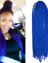 20 inch Soft Dreadlock Crochet Braid Havana Mambo Twist Hair Extension 4 Pure Color with Crochet Hook