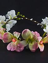 Femme / Jeune bouquetière Tissu Casque-Mariage / Occasion spéciale / Décontracté / Extérieur Couronnes 1 Pièce Rond