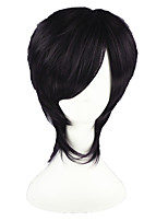 Gin Tama-Takasugi Shinsuke Dark Purple 14inch Anime Cosplay Wig CS-001K