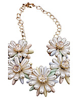 Women's Fashion Exaggerated Style Sun Flower Clavicle Chain 03