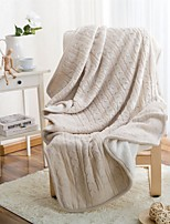 Multicolor Knitted Solid Blanket Acrylic Fiber  47.2