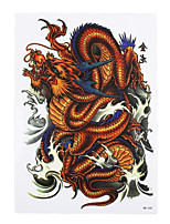 8PCS Tatoo Dragon Classic Totem Picture Decal Design Temporary Arm Body Art Paste Paper Fake Tattoo Sticker Removable