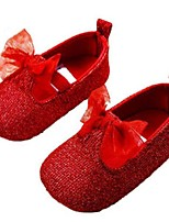 Baby Shoes Outdoor Glitter Loafers Red
