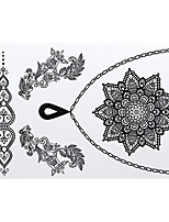 Tattoo Stickers Airbrush Tattoo Stencils Women / Adult Black Paper 1 21*17*0.3