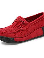 Women's Loafers & Slip-Ons Spring / Summer / Fall Wedges / Creepers / Comfort Suede Outdoor /  Casual Wedge HeelFur