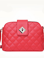 Women-Casual-PU-Shoulder Bag-Beige / Pink / Red / Black