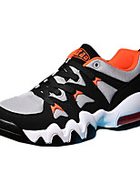 Men's Shoes Tulle Casual Fashion Sneakers Casual Flat Heel Black / Orange