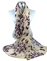 Literary Cotton Long Shawl Large Size Women Butterfly Print Scarves