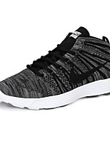 Chaussures Noir / Violet / Gris Tissu Basket Femme